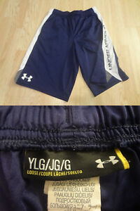 Youth Boys Under Armour L Navy Shorts Loose Fit