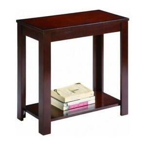 Side Table Chair End Wood Stand Living Room Espresso Nightstand Sofa Night Shelf