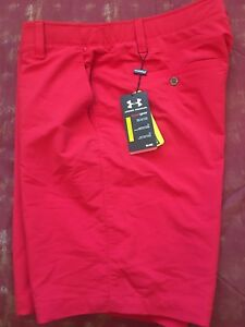 Under Armour Loose HeatGear Golf shorts active Mens 38 Red