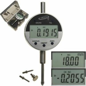 Digital Electronic Indicator 1quot; 0.0005quot; Gauge 4 Probes Absolute Hold Inch Metric $37.95