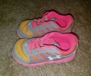 Under Armour baby toddler girl shoes 6
