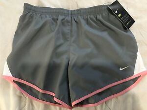 Girls Nike Dry Fit Running Shorts Size Large Gray