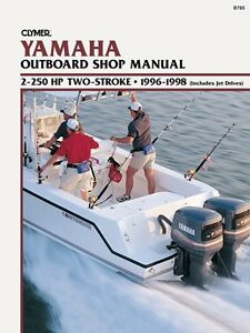 CLYMER YAMAHA 200 HP 90 DEGREE V6 TWO STROKE OUTBOARD SERVICE SHOP MANUAL 96-98