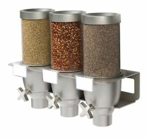 Rosseto EZ533 3-Container Spice and Powder Wall Mount Dispenser 0.65-Gallon New