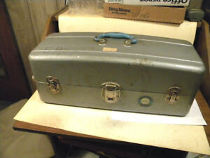 Vintage Union Steel Chest Watertite 2 tray tackle box USA