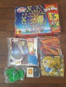 INCOMPLETE 2003 K'NEX KNEX Musical Motorized Ferris Wheel Replacement Parts Huge