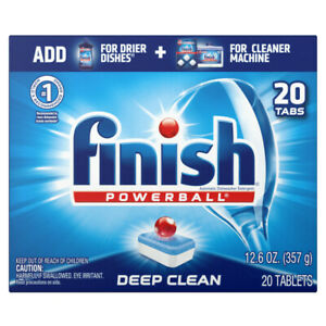 Finish All in 1 Powerball Fresh, Dishwasher Detergent Tablets 20 ct