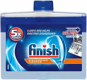 Finish Dual Action Dishwasher Cleaner: Fight Grease - Limescale, Fresh 8.45 oz.