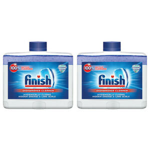 Finish Dual Action Dishwasher Cleaner: Fight Grease,Limescale,Fresh 8.45 oz. 2p