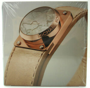 Authentic NWT MICHAEL KORS Access Activity Tracker Leather Bracelet RoseGold