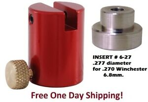 Hornady B2000 Lock-N-Load Comparator Body AND # 27 INSERT for .277 Dia 6.8mm