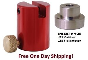 Hornady B2000 Lock-N-Load Comparator Body AND INSERT # 25 for .25 Cal  .257 dia