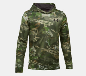 Under Armour Boys Icon Camo Hoodie - Ridge Reaper Forest - MED - #1286119- NWT