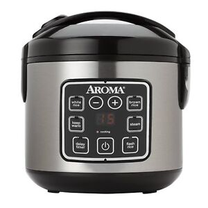 Rice Cooker Aroma Housewares ARC-914SBD 8-Cup (Cooked) Digital Cool-Touch
