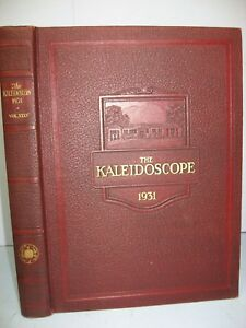 1931 Kaleidoscope, Middlebury College, Middlebury, Vermont Yearbook