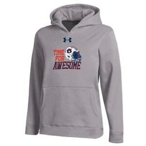 Youth Heather Gray Auburn University Tigers Under Armour Hoodie