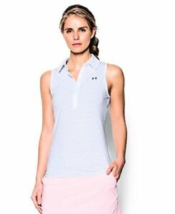 Under Armour Women's Zinger Stripe Sleeveless Polo - Choose SZColor