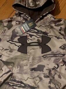NWT UNDER ARMOUR COLD GEAR BOYS L (14-16) CAMO RIDGE REAPER HOODIE SWEATSHIRT