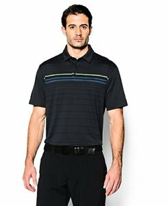 Under Armour Men's coldblack Engineered Stripe Polo - Choose SZColor