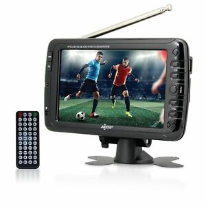 Axess 7-Inch LCD TV wATSC Tuner Rechargeable Battery & USBSD Inputs LCD TV