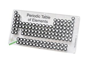 Acrylic Periodic Table of Elements set of 71 Elements samples in labeled vials $99.90