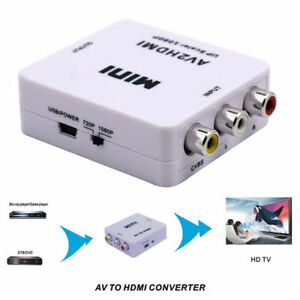 Mini Composite AV CVBS RCA to HDMI Video Converter Adapter for TV PC Ps3 Xbox360
