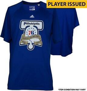 Joel Embiid 76ers Player-Issued #21 Liberty Bell Champs Shirt - 2016-17 Season