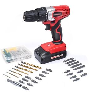 WORKSITE 20V Cordless Electric Drill ScrewDriver with 1300mA Lithium-Ion Batter