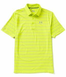 Under Armour Men Golf Short-Sleeve Coldblack Swing Plane Stripe Polo Shirt