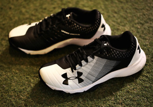 Under Armour Men's Baseball Yard Low Trainer Shoes Black 3000356 001 Authentic
