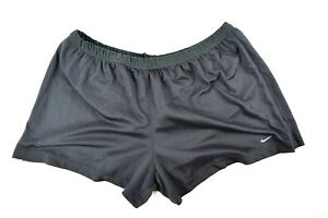 Nike Dry Fit Shorts Lined Black Youth Girls Drawstring Solid Black Athletic XL