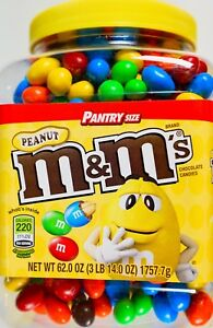 Mars M&M's Peanut Chocolate Candies Pantry-Size, 62 Ounce