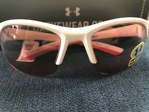 NWT Under Armour Women Sunglasses Adult Marbella White Hot Coral Len 8600066 $89