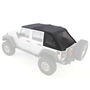 Smittybilt Bowless Combo Soft Top Kit w/ Tinted Windows for 07- 17 Jeep Wrangler