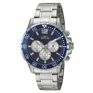 Invicta 23664 Men's Specialty Chrono Blue Dial Steel Bracelet Watch