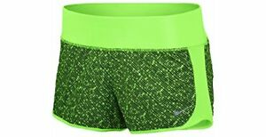 Nike Womens Dri-FIT Crew Printed Shorts (X-Large Voltage GreenVoltage GreenR