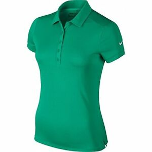Nike Golf Womens Dri-Fit Solid Victory Swoosh Polo Shirt Teal