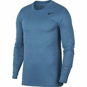 Nike Dry Training Top Mens Shirt Size X-Large FitnessWorkout Gym BluePolarize