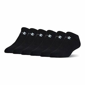 Under Armour UA Charged Cotton 2.0 No Show Socks – 6-Pack