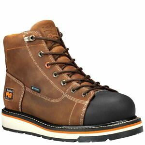 Timberland Boots Men Gridworks 6quot; Soft Toe Waterproof Brown Leather A1KRM