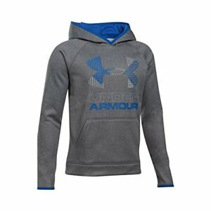 Under Armour Boys' Armour Fleece Solid Big Logo Hoodie GraphiteUltra Blue Yo