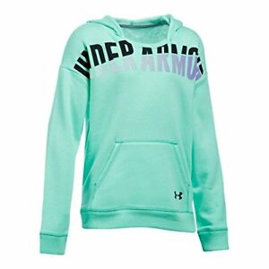 Under Armour Girls' Favorite Fleece Hoodie CrystalBlack Youth X-Small