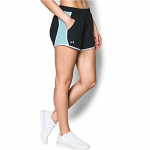 Under Armour Women's Fly-By Shorts BlackBlue Infinity Small