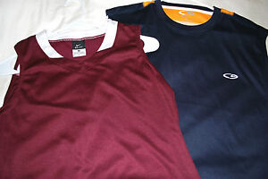 LOT 2 MENS SHIRTS TOP MUSCLE M ATHLETIC NIKE FIT DRY MEDIUM CHAMPION BASKETBALL