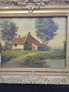 Antique signed original oil painting realism $88.00