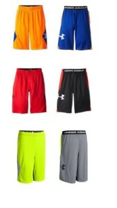 3 NWT Under Armour FROM DOWNTOWN red orange yellow MESH SHORTS yth boys L YL lot