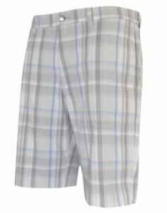 New Callaway Golf- Madras Plaid Short White 34