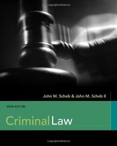 NEW Criminal Law by John M. Scheb