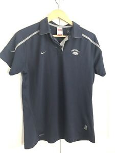 Nevada Wolf Pack UNR Nike Dri-Fit Polo SS Shirt Womens Size Large Navy