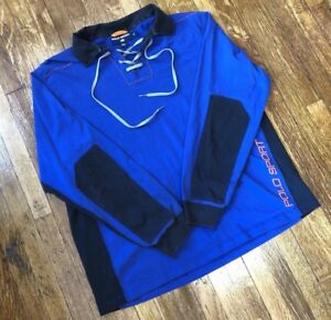 Vintage Polo Sport Spellout Xl Hockey Jersey Long Sleeve Shirt Rare 90s Bear 92